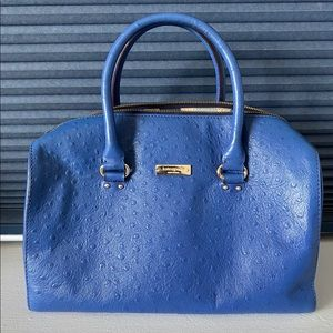 Kate Spade ostrich embossed leather satchel